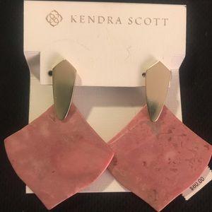 Kendra Scott Pink RHODONITE Earrings - new